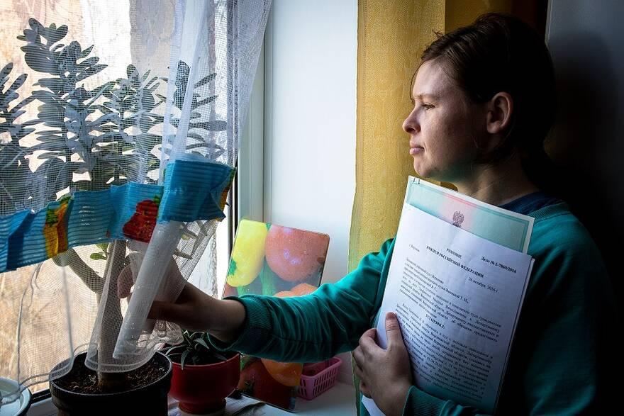 Жительница Воронежа Наталья Трофимова, борющаяся за собственную жилплощадь