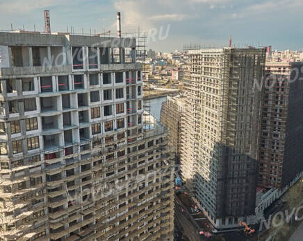 ЖК «Now. Квартал на набережной»: ход строительства 1 очереди, Май 2021