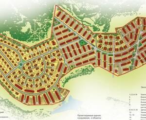 Карта поселка КП «Бристоль»