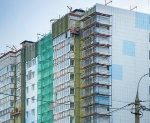 ЖК «на Судостроительной улице»: процесс утепления фасада