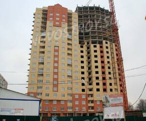 ЖК «Дом на Баковке»: 15.12.2015 - Строящийся корпус, фасад