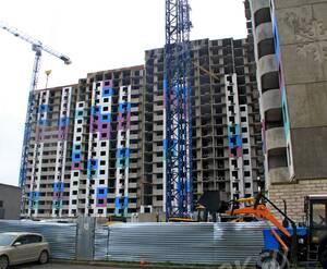 ЖК «на улице Жирохова»: 23.12.2015 - Вид строящегося корпуса со двора