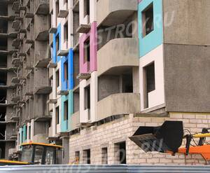 ЖК «на улице Жирохова»: 23.12.2015 - Фрагмент строящегося корпуса