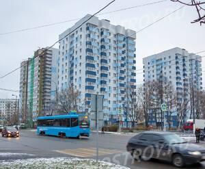 ЖК «на Судостроительной улице»: общий вид с перекрёстка ул. Судостроительной и Кленового бульвара