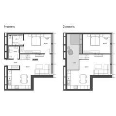 МФК «Mitte», планировка 2-комнатной квартиры, 65.42 м²