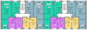 МЖК «Терра», планировка 2-комнатной квартиры, 68.00 м²