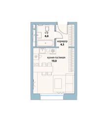 ЖК «Символ», планировка студии, 27.30 м²
