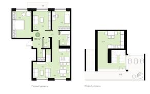 ЖК «Первый квартал», планировка 3-комнатной квартиры, 144.50 м²