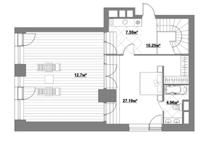 ЖК «Садовые кварталы», планировка 5-комнатной квартиры, 219.08 м²