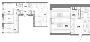 ЖК «Садовые кварталы», планировка 4-комнатной квартиры, 216.81 м²