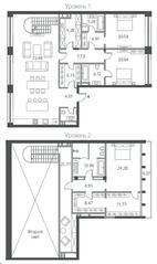 ЖК «Cloud Nine», планировка 5-комнатной квартиры, 273.20 м²