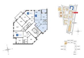 ЖК «Ново-Никольское», планировка 2-комнатной квартиры, 72.50 м²