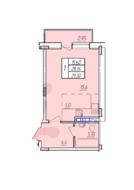 ЖК «Захарово-парк», планировка студии, 29.30 м²