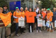 Дольщики ЖК «Царицыно» провели серию пикетов у здания правительства из-за неявки властей в суд